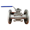 Flange Ball Valve 3pcs Stainless Steel Pn40